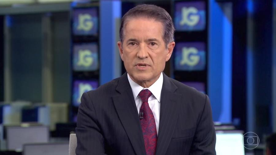 Carlos Tramontina comunica rescisão do contrato do jornalista William Waack - Reprodução/Globo