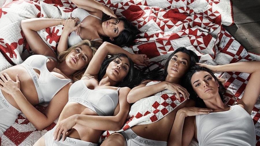 As irmãs do clã Kardashian-Jenner em campanha publicitária - Divulgação