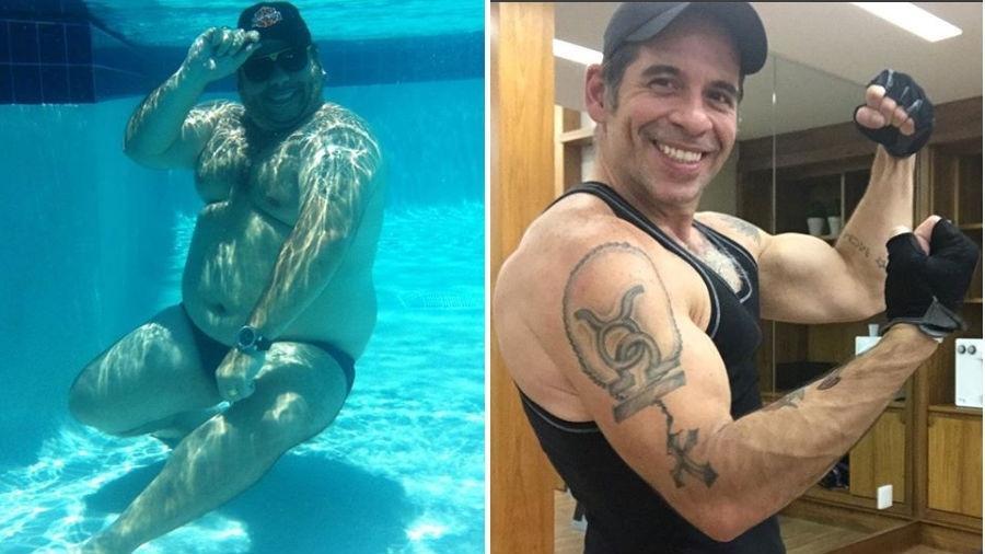 Leandro Hassum antes e depois de emagrecer - Reprodução/Instagram