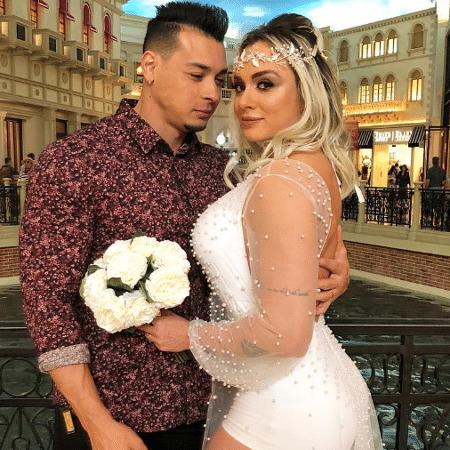 Felipe Franco e Juju Salimeni renovam votos de casamento - Reprodução/Instagram