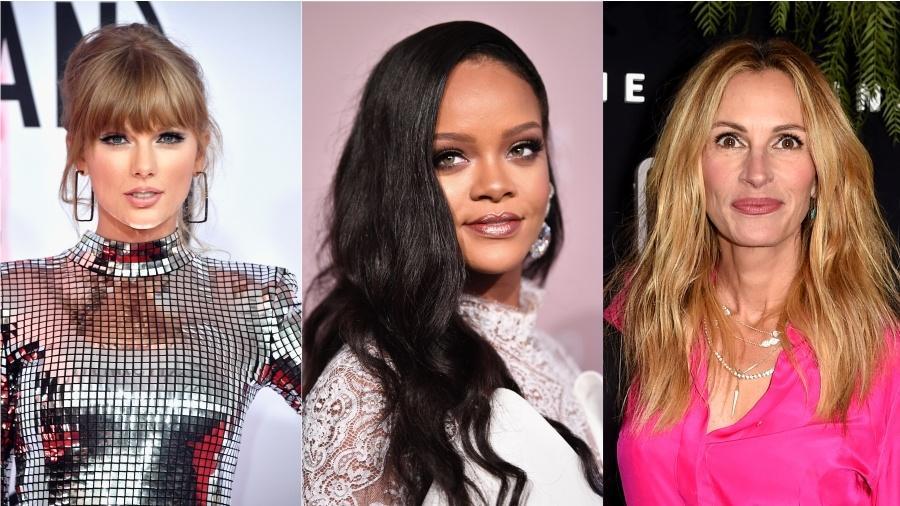Taylor Swift, Rihanna e Julia Roberts foram algumas das personalidades que incentivaram o voto nesta terça-feira (6) - Getty Images