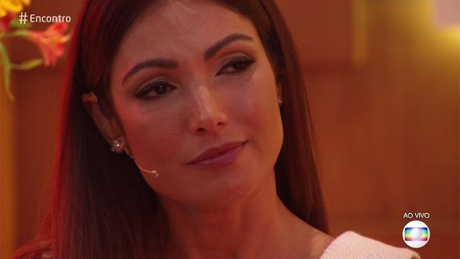 """Patrícia Poeta chora no """"Encontro"""" com poesia de Bráulio Bessa - Reprodução/Globo"""