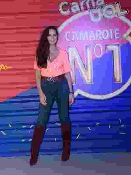 Luiza Brunet no camarote CarnaUOL N1 - Selmy Yassuda/UOL