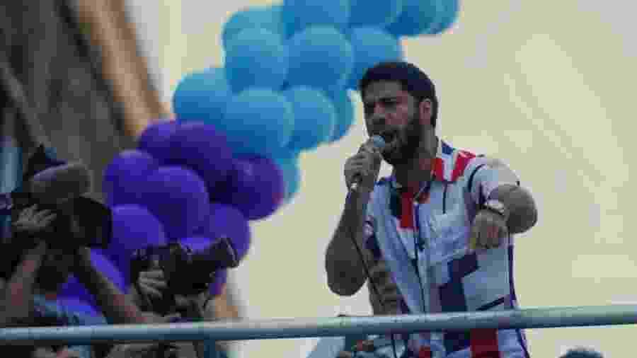O deputado federal David Miranda (PSOL-RJ) durante a Parada do Orgulho LGBTQ+ na Avenida Paulista, em São Paulo - Luciola Villela/ UOL