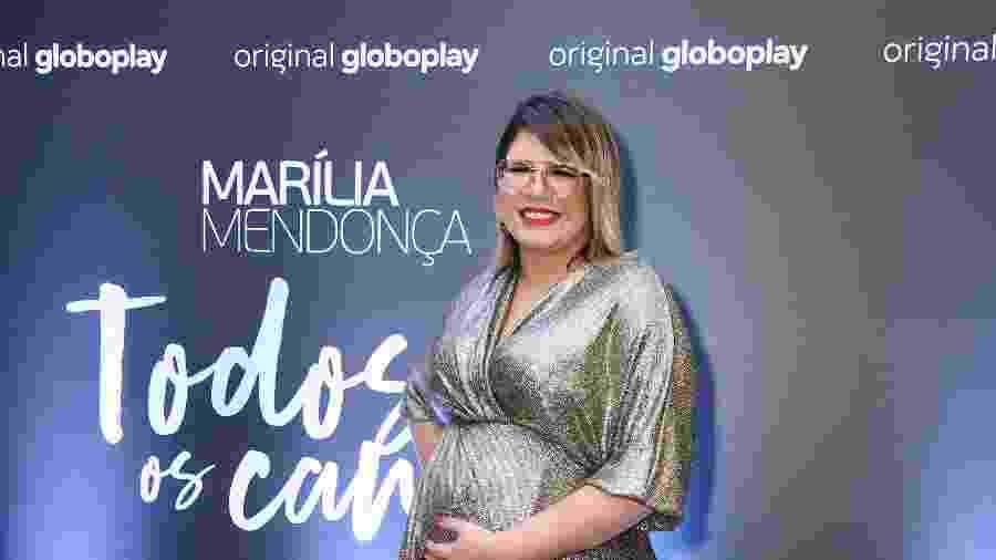 A cantora Marília Mendonça na coletiva do projeto Todos os Cantos, da Globoplay - Manuela Scarpa/Brazil News