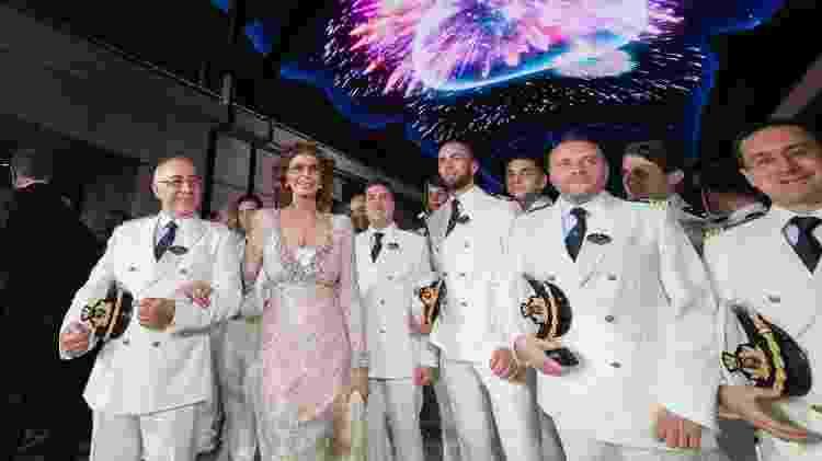 Sophia Loren acompanha a tripulação no lançamento do MSC Bellissima - Divulgação