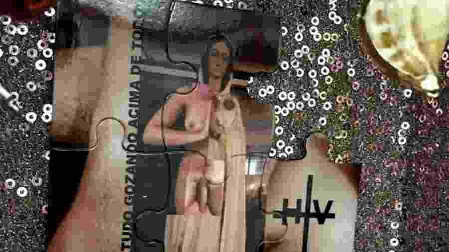"""Obra  """"Todxs xs santxs - renomeado - #eunãosoudespesa"""", de Orion Lalli - Reprodução"""