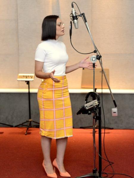 Andressa Urach grava sua primeira música em estúdio no Rio de Janeiro - Webert Belicio - AGNEWS