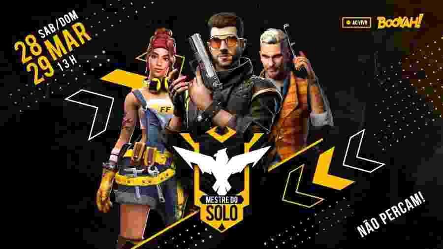 Mestre do Solo promete agitar quarentena de pro-players, influencers e fãs de Free Fire - Divulgação/Garena
