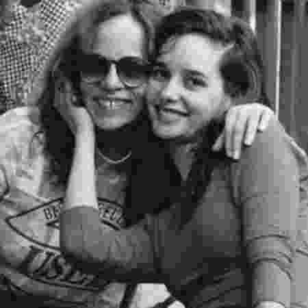 Glória Perez e a filha, a atriz Daniella Perez - Reprodução