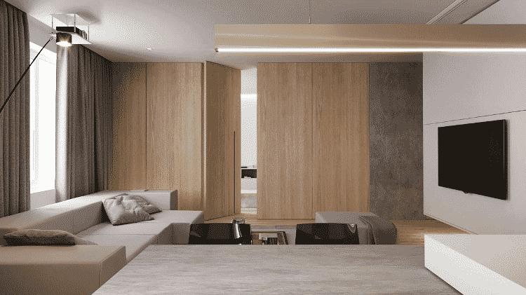 Porta mimetizada pode ajudar quem pretende economizar espaço na decoração de casa - Reprodução - Reprodução