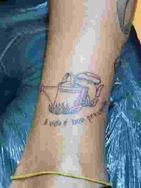 Tatuagem sobre A Fazenda em Lipe Ribeiro - Reprodução/Instagram - Reprodução/Instagram