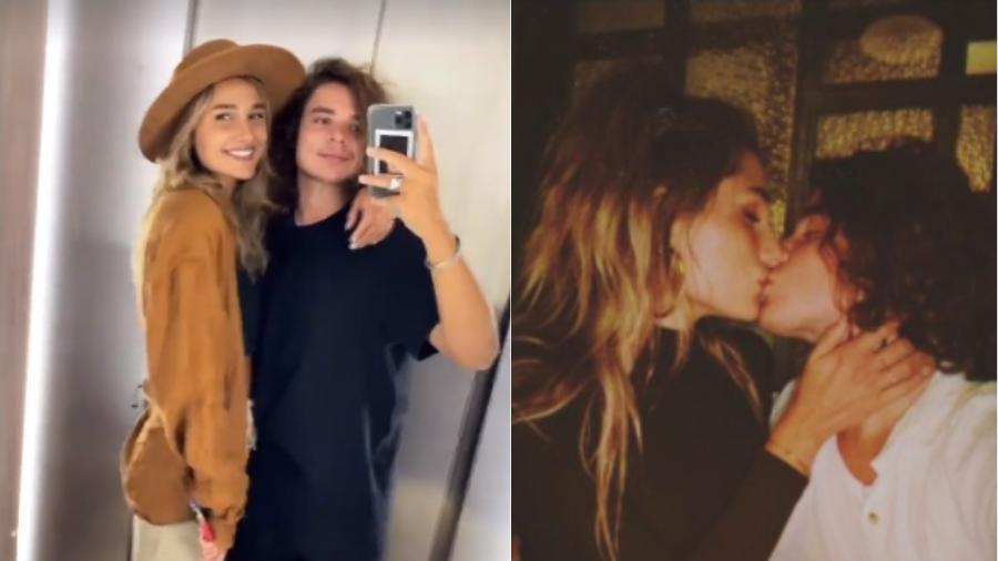 Sasha Meneghel e João Figueiredo: casal está noivo e trocaram carinhos pelo Instagram - Reprodução/Instagram