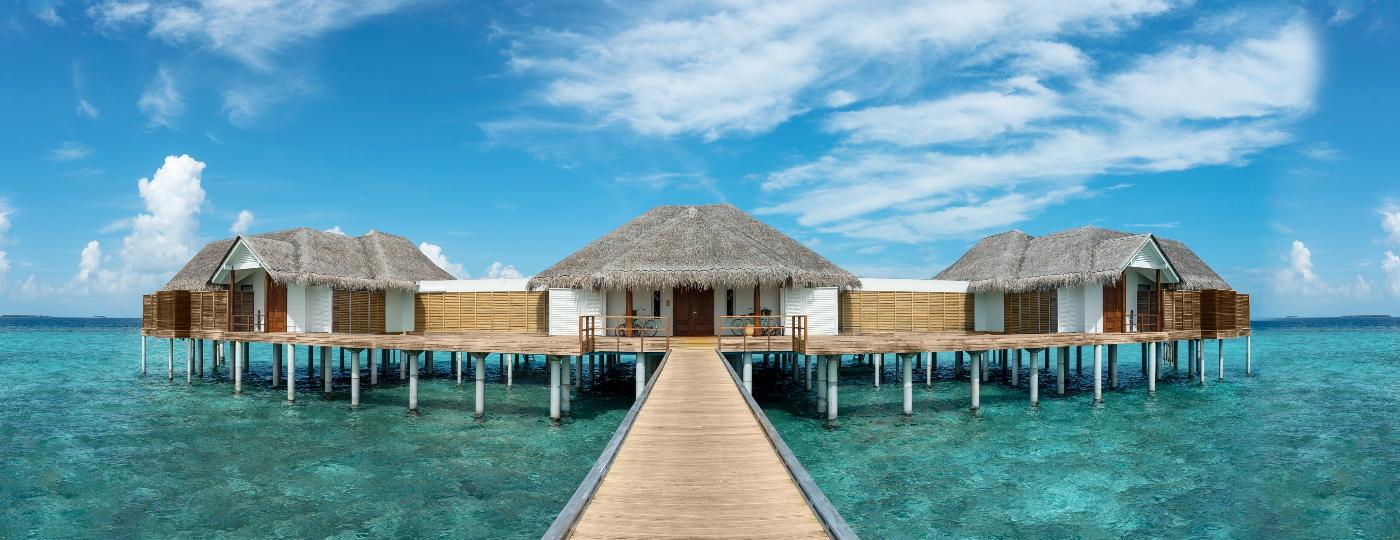 Casas flutuantes nas Maldivas fazem parte do Anantara Kihavah Maldives Villas com diárias a partir de R$ 50 mil - Matheen Faiz