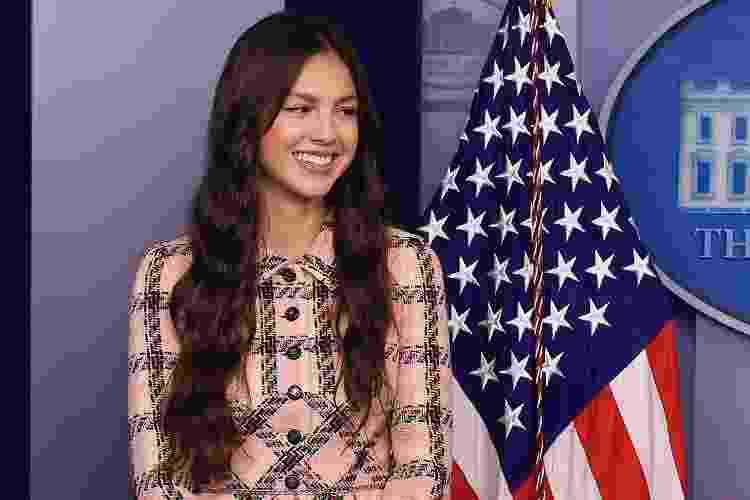 A cantora Olivia Rodrigo na Casa Branca - Getty Images - Getty Images