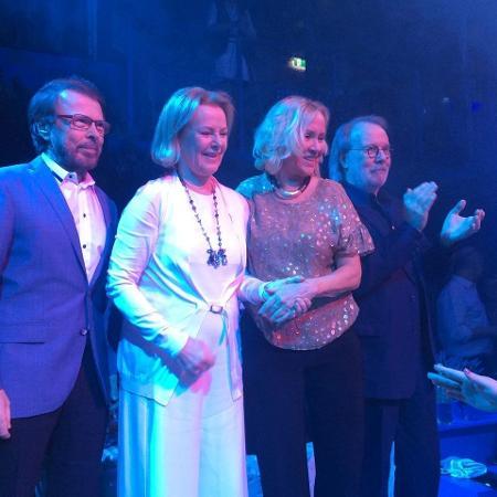 Integrantes do ABBA se reencontram após oito anos durante evento em Estocolmo, na Suécia - Reprodução/Facebook