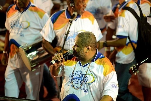 4.fev.2016 - Arlindo Cruz no Circuito Osmar, no Carnaval de Salvador