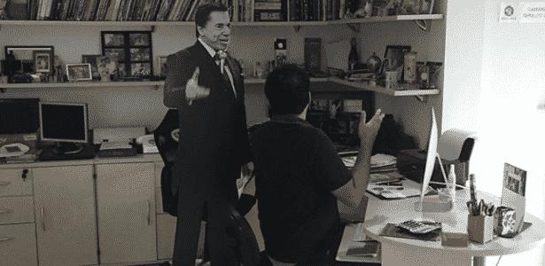 Geraldo Luís guarda estátua de madeira de Silvio Santos há 10 anos - Reprodução/Instagram/geraldobalanca