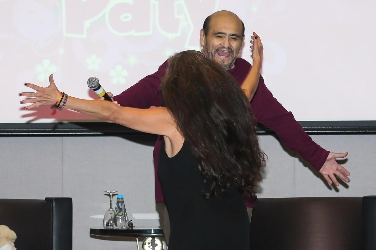 Ana Lilian De La Macorra fotos: paty e sr. barriga se reencontram em evento com fãs