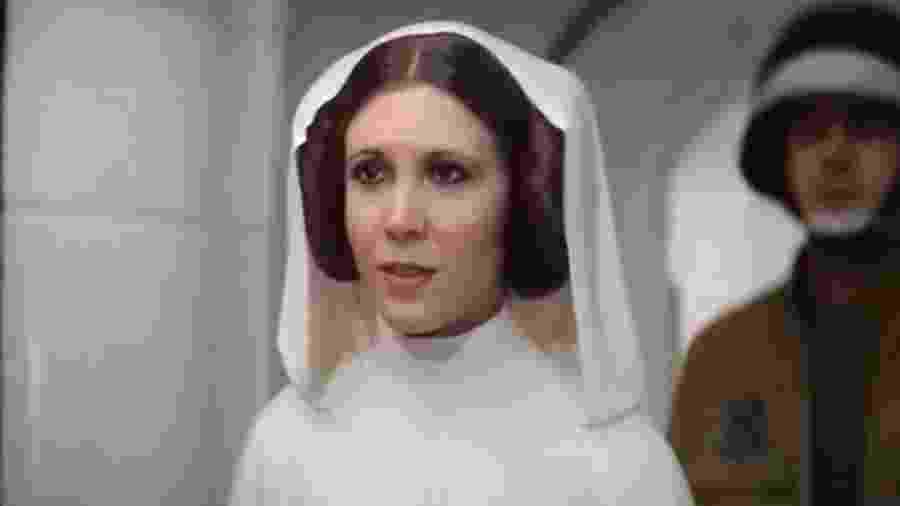 """Princesa Leia reaparece em cena final de """"Rogue One: Uma História Star Wars"""" - Reprodução"""