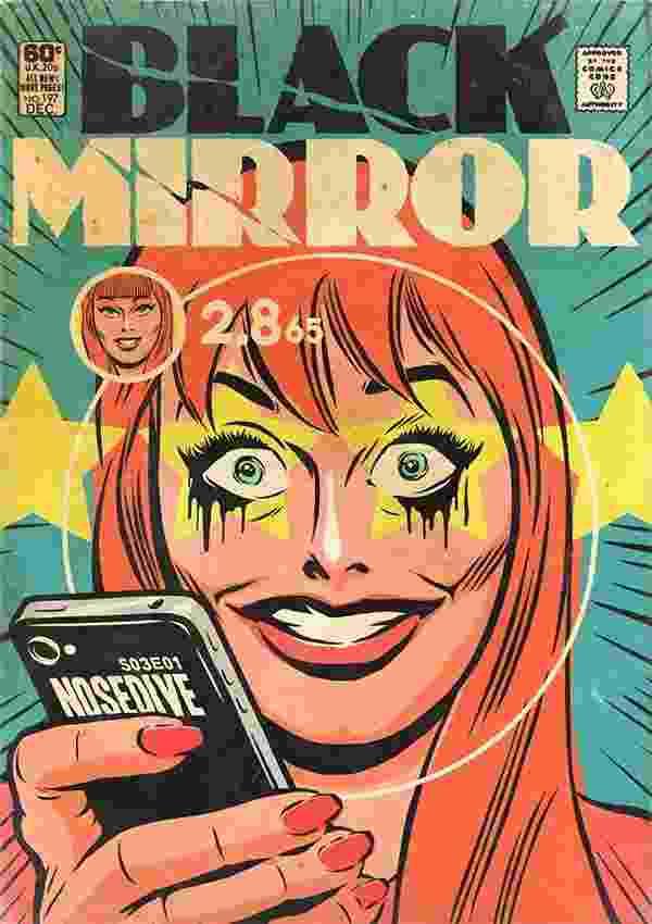 """Ilustração baseada no episódio """"Nosedive"""" da série Black Mirror criada pelo brasileiro Butcher Billy - Divulgação/Butcher Billy"""