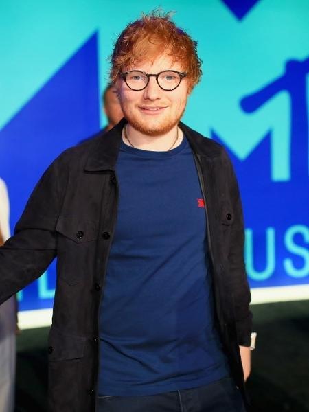 Ed Sheeran posa no tapete azul do VMA 2017 - Christopher Polk/Getty Images/AFP