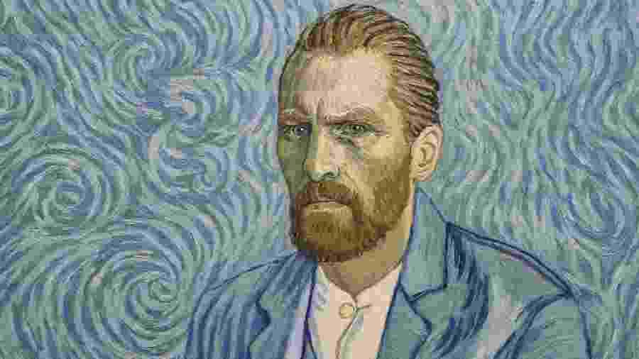 """Pintura baseada nos famosos autorretratos de Van Gogh retrata o ator Robert Gulaczyk, que interpreta o pintor holandês na animação """"Com Amor, Vincent"""" - Divulgação"""