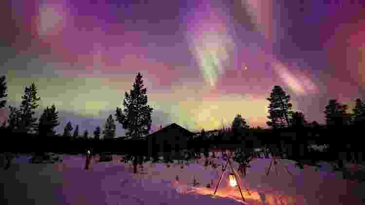 Aurora Boreal na Escandinávia - Getty Images/iStockphoto - Getty Images/iStockphoto