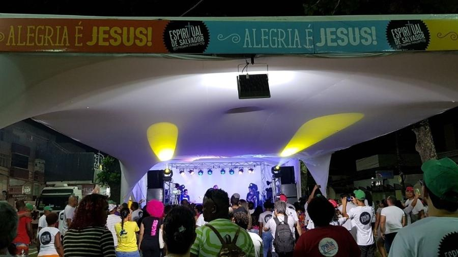 Evangélicos se reúnem na Festa Espiritual de Salvador, realizada durante o Carnaval - Gilvan Marques/UOL