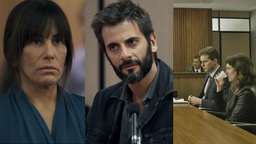 Novela das 21h teve diversas cenas de julgamento - Reprodução/Globo/Montagem UOL