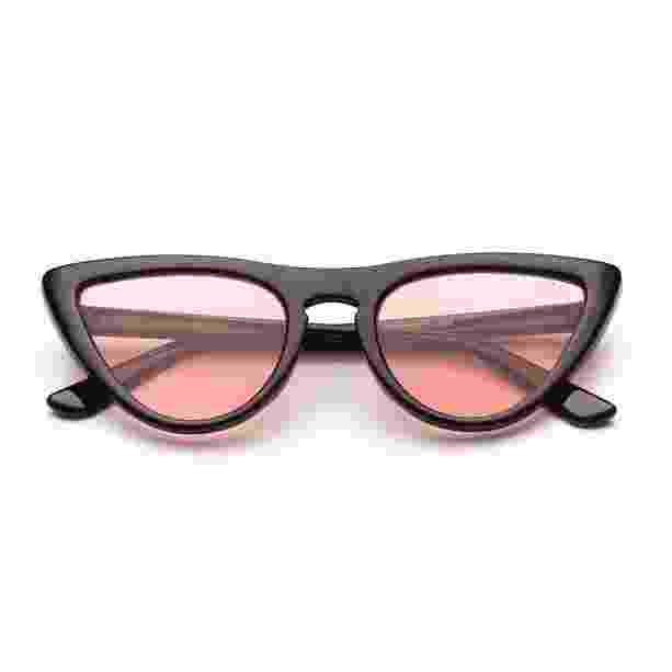 Óculos com lente rosê e armação de acetato, LBA Shop, R$ 99, www.lbashop.com.br - Divulgação