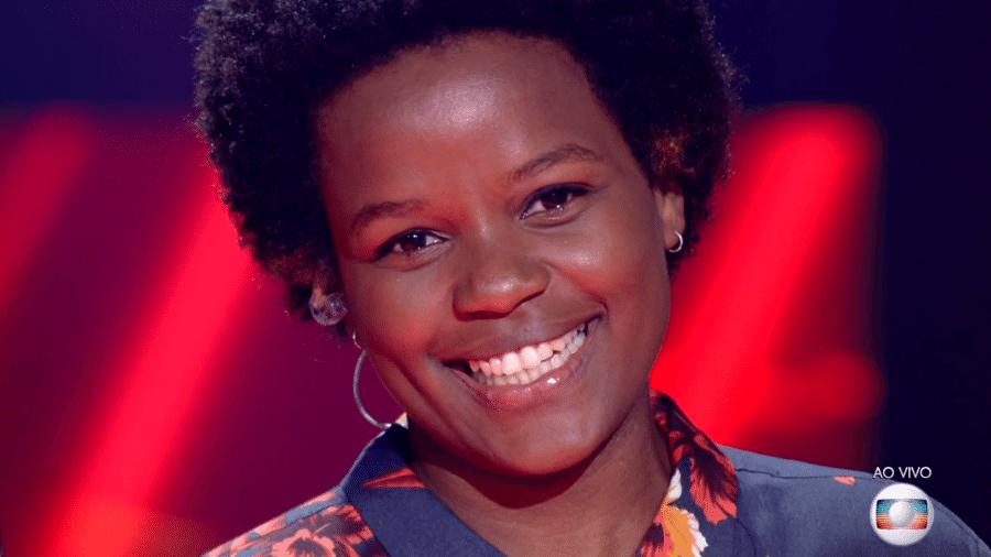 """Priscila Tossan canta no """"The Voice Brasil"""" - Reprodução/TV Globo"""
