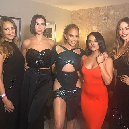 Jessica Alba, Dua Lipa, Jennifer Lopes, Becky G e Sofia Vergara - Reprodução/Instagram/@jessicaalba