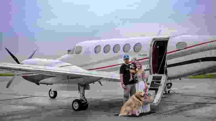 Cão em jatinho particular da Flapper, em voo pet friendly - Divulgação