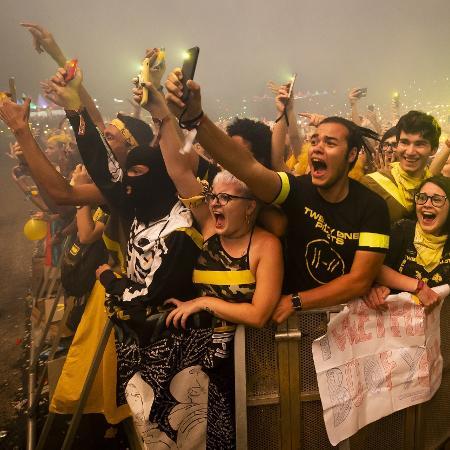 Twenty One Pilots e apresenta no terceiro dia de shows do Lollapalooza Brasil 2019 - Mariana Pekin/UOL