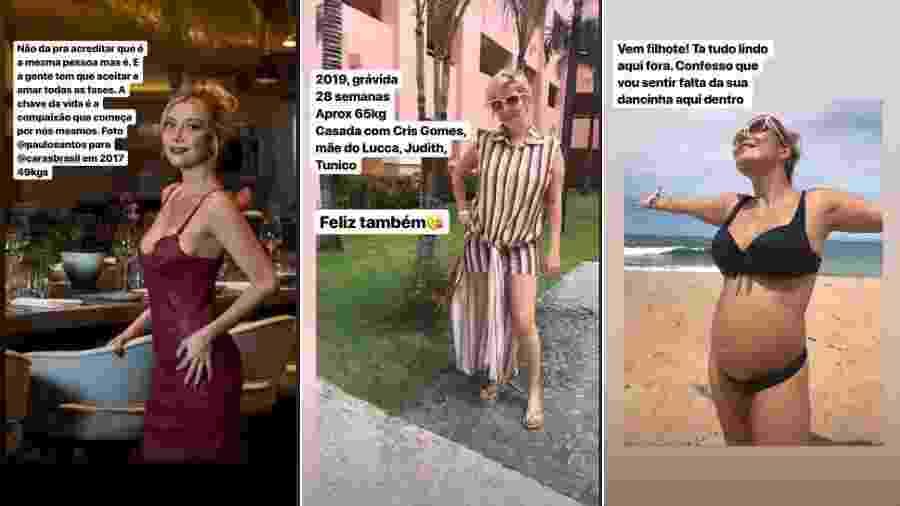 Luiza Possi compara corpo antes e durante gestação - Reprodução/Instagram