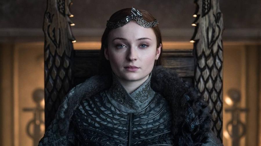 """Sansa Stark (Sophie Turner) em cena do último episódio de """"Game of Thrones"""" - Divulgação"""
