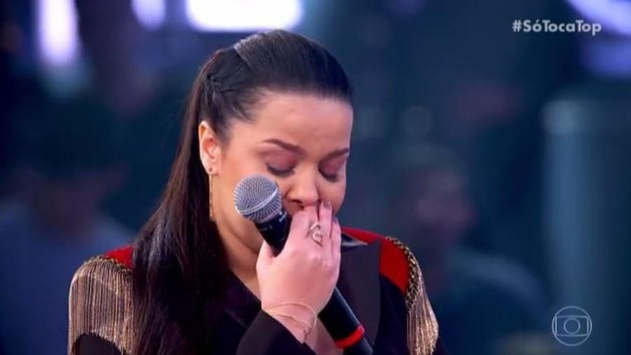 Maiara se emociona no Só Toca Top na Globo - Reprodução/Globo
