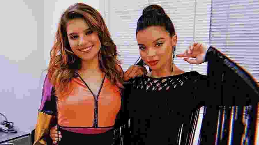 Dora de Assis e Gabriella Mustafá nos bastidores de Malhação - Reprodução/Instagram
