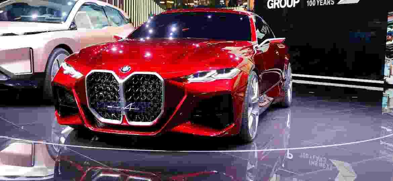 BMW Concept 4 traz a tradicional grade de duplo rim com dimensões enormes; gostou? Próximo M4 será parecido - Reuters