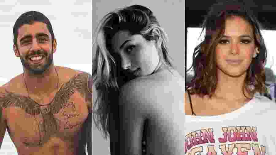 Pedro Scooby, Sasha Meneghel e Bruna Marquezine podem ir ao Rock in Rio - Colagem/UOL
