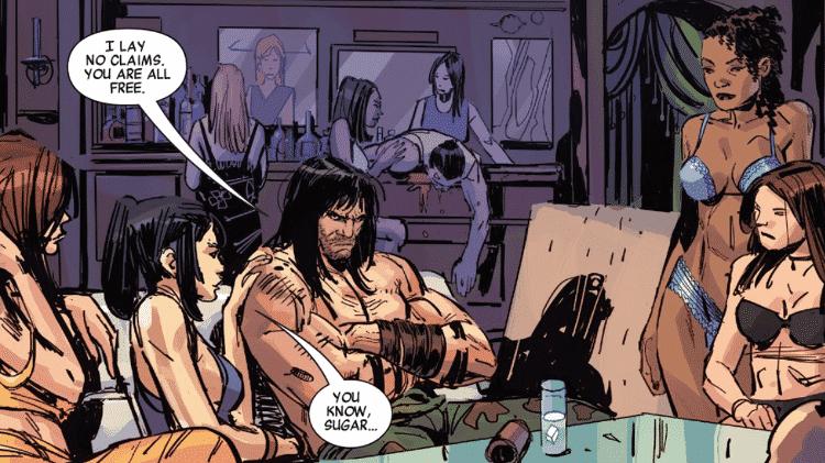 Conan liberta escravas sexuais em Porto Alegre - Reprodução/Marvel - Reprodução/Marvel