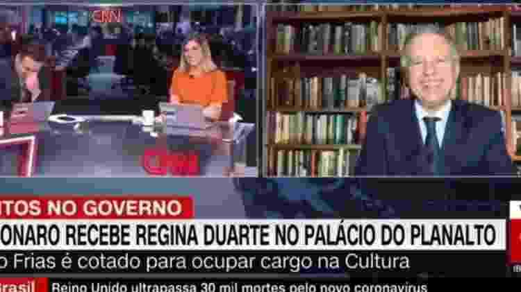 Apresentadores da CNN Brasil caem na risada após entrevista de Mario Frias - Reprodução