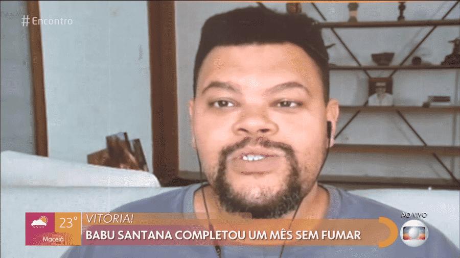 """Babu Santana fala de saúde no """"Encontro com Fátima Bernardes"""" - Reprodução/Globoplay"""