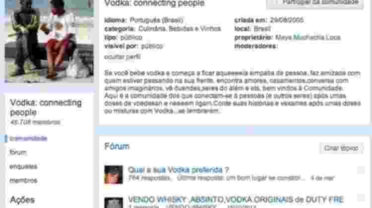 Comunidade - vodka - Reprodução - Reprodução