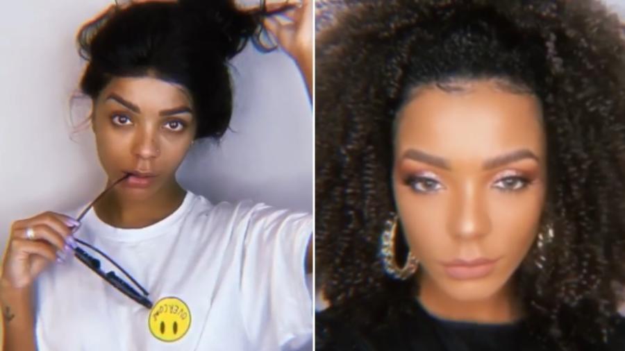 Brunna Gonçalves, mulher de Ludmilla, mostra o cabelo cacheado - Reprodução/Instagram