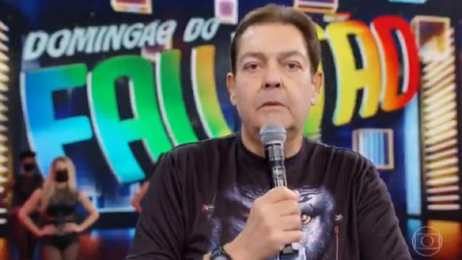 """Faustão fala de Agnaldo Timóteo durante o """"Domingão"""" deste domingo (11/04) - Reprodução/Globo"""