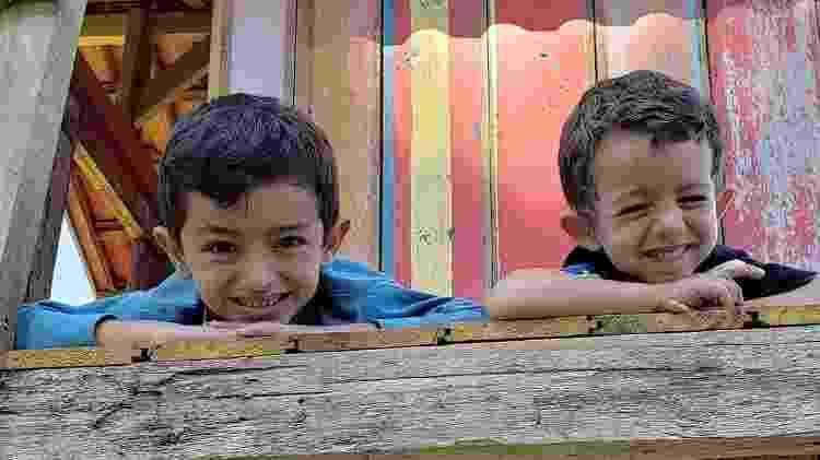 Guilherme, 7, e Felipe, 4: filhos de Diego e Lorena - Reprodução Instagram - Reprodução Instagram