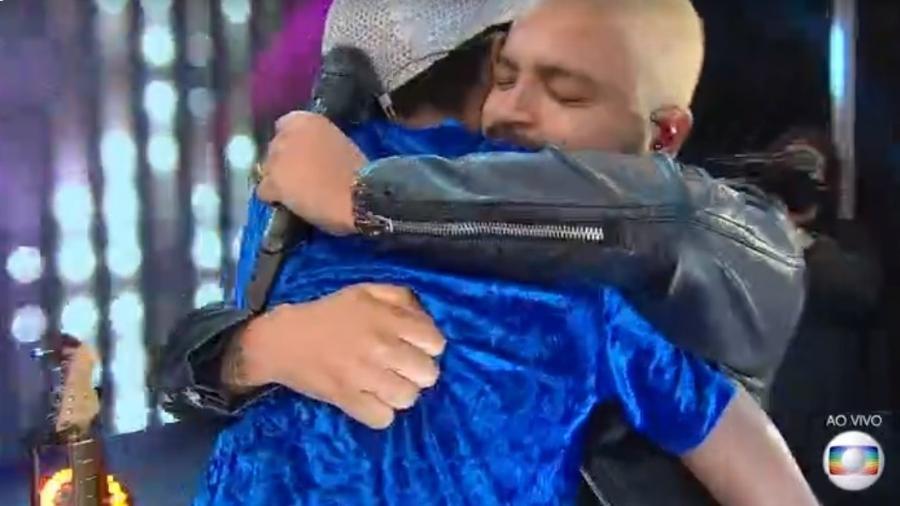 BBB 21: Projota e Lucas se abraçam em show - Reprodução/ Globoplay