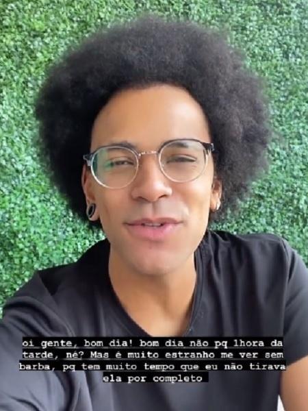 João Luiz muda de visual e diz não se reconhecer - Reprodução/Instagram